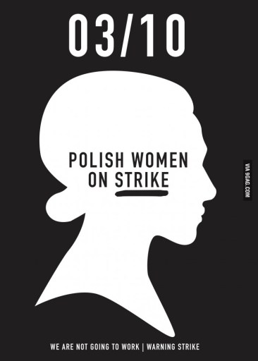 Polish women on strike